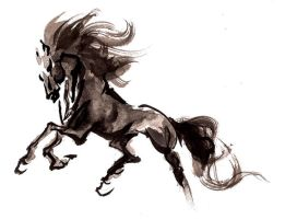 Horse, Chinese Painting. by jodicchan