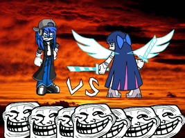 Cpend and Stocking vs Internet Trolls by Stocking-Rose
