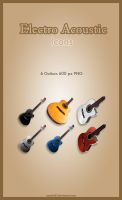 Electroacustic Guitar Icons by amadis33