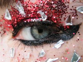 eye red glitter and glass2 by music-lover-stock