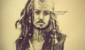 Captain Jack Sparrow by azulmint