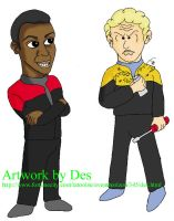 DS9 Kids: Sisko and O'Brian by Leeanix