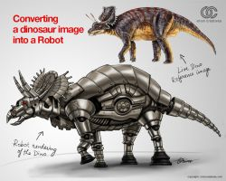 Robotised Dino by orioncreatives