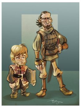 Tyrion and Bronn by 3nrique