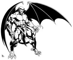 Gargoyles Goliath by garnabiuth