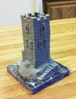 Miniature Castle Sculpture by Roskvape