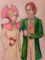 Eight Doctor and Romana II by Steblynka