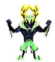 green stag by D4Destroy
