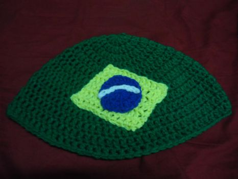 Brazil Inspired Beanie by Moyashi-chan