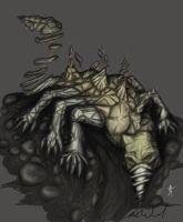 Earth Colossus: Stone Eater by VirLupus