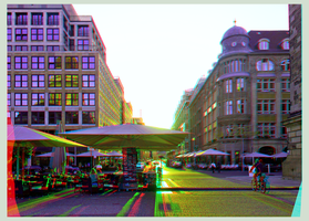 Berlin Sunset 3D ::: DRi Anaglyph Stereoscopy by zour