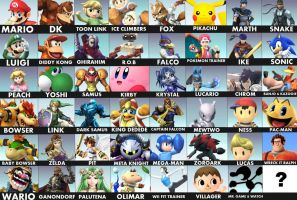 Super Smash Bros Roster by pokefan514
