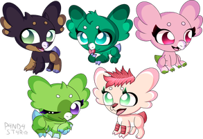(Gifts) Colorful Wynglings! by P4ND4-ST4R