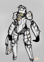 Girl in mecha suit by Endless-warr