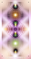 WALL ART 1792 - dreamy colors axial symmetry by oboudiart