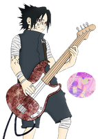 Render Sasuke Guitar by sakucitah