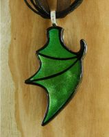 Green Dragon Wing Fused Glass by FusedElegance