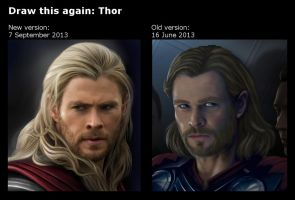 Draw this again: Thor by eleathyra