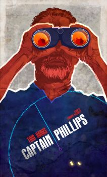 Captain Phillips 2013 INSPIRED movie POSTER by le0arts