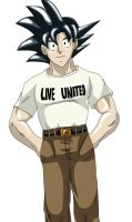 Live United for Japan - Goku by Wyvern07