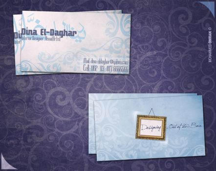 business card. by omrantheone