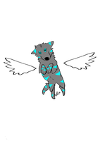 winged glow wolf adopt (OPEN!) by starlightzs