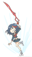 Kill la Kill - Matoi Ryuuko by ange-of-the-top-hat