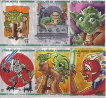 Clone Wars Sketch Cards by artyewok