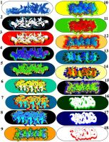 SKATE BOARD Design by GraffitiGrant