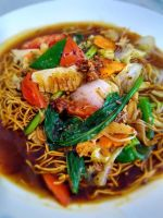 Blackpepper Sauce Canton Noodle by VEGAN-LOVE