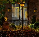 Patio Garden (Background Stock) by GeminiArtNStock