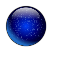 Blue Glassy Glittery Sphere by stumpy666davies
