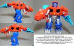 Repaint: Rescue Dinobot Optimus Prime by dvandom
