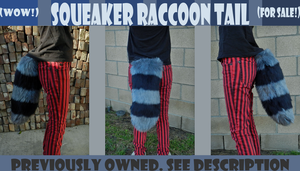 Squeaker Raccoon Tail SOLD by TECHNlCOLOUR