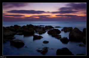 Sunset Rocks by RoieG
