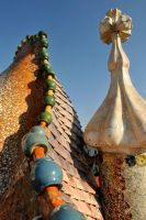 Casa Batllo roof detail 1 by wildplaces