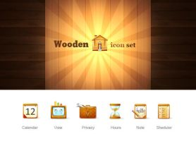 Wooden icon set by Egoraz