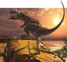 Allosaurus at World's End by Rob-Caswell