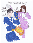 Kyo and Yuri Do Power Rangers by BlueWolfRanger95