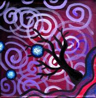 Spiral Tree Painting by Mad-Willy