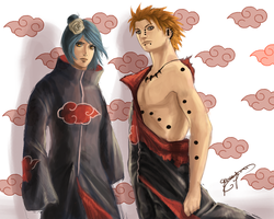 Pein and  konan by gwengivar
