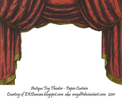 Red Toy Theater Curtain 2 by EveyD