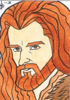 Thorin Oakenshield - sketch card by howardshum