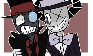 Villainous Black Hat and TX by Trix-Gaming-Artist