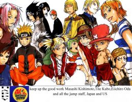 SHONEN JUMP FAN ART by phation