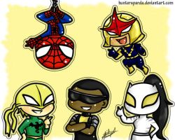 Ultimate Spiderman Chibis by huntersparda