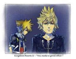 "KH2 - ""You make a good other."" by tsim"