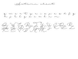 Autumn Chant Font by nudibear