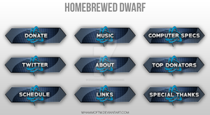 Homebrewed Dwarf - Twitch Panels by WhammoDesigns
