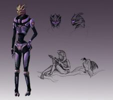 Turian Female by london-boys